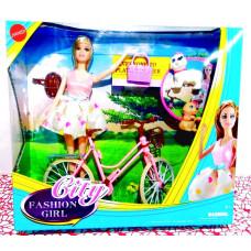Кукла + велосипед и 2 питомца