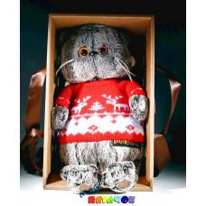 Мех. Basik&Co Кот Басик 22см в свитере