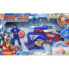 Пистолет мягк. пуля + Капитан Америка