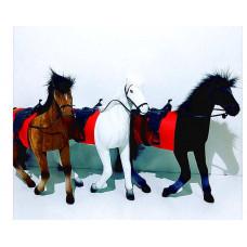 Лошадь велюр флок Сивка-Бурка велюр