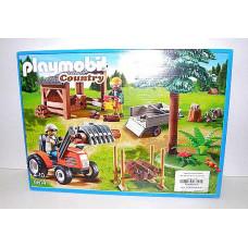 Маш. Playmobil Лесопилка с трактором