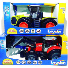 Маш. Bruder Трактор 38см с погрузчиком