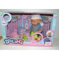 Кукла Долли с кроваткой и игрушками
