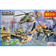 Констр. Cogo 672дет Военная техника
