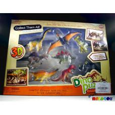 Пазл 4D Динозавры