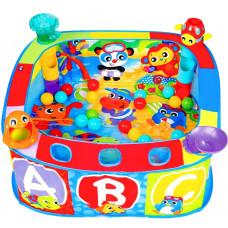 Манеж Playgro с игрушками и шарами 80*80