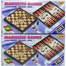 Шахматы 3в1 магнит 24см