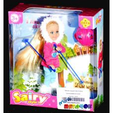Куколка Дефа на лыжах
