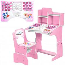 парта со стулом Розовая