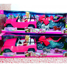 Машина для Барби Роз. Джип и мотоцикл