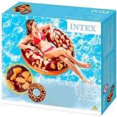 Над. Круг 114см Intex Пончик Шоколадный