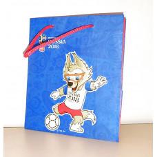 Пакет подарочный бумажный Футбол Мал.