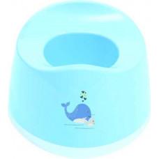 Горшок пластик голубые Киты