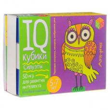 Кубики Айрис IQ кубики Силуэты + 50 игр