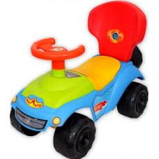 Машина каталка джип Юг-Пласт со спинкой