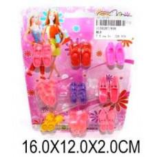 Обувь для кукол набор 12 пар