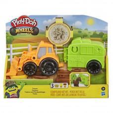 Плей До Hasbro мал. Трактор с прицепом