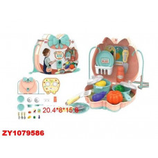 Посуда в пласт. сумочке+ продукты