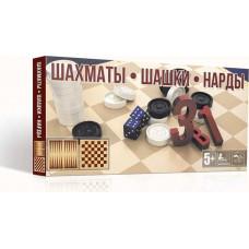 Шахматы 3в1 31см карт поле