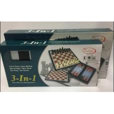Шахматы 3в1 магнит 32см
