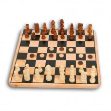 Шахматы 3в1 Zilmer дерев.