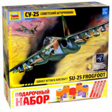 Звезда Самолет штурмовик СУ-25 с красками
