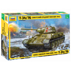 Звезда Танк Т-34 Сов.  Ср. 1:35
